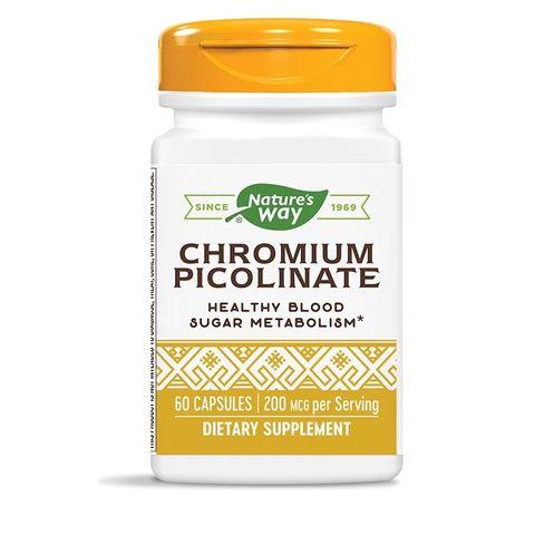 Хром Пиколинат за регулиране на кръвната захар 200 мкг х 60 капсули Nature's Way