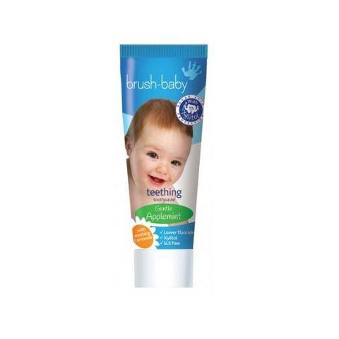 Brush Baby Паста за зъби за бебета от 0 до 2 години с екстракт от лайка и аромат на ябълка х50 мл