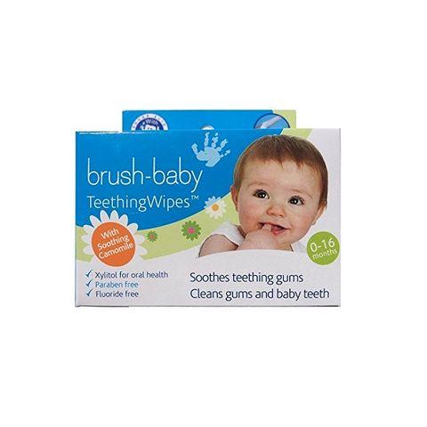 Brush-baby Почистващи кърпички за венци и зъбки за деца от 0 до 16 месеца x20 броя