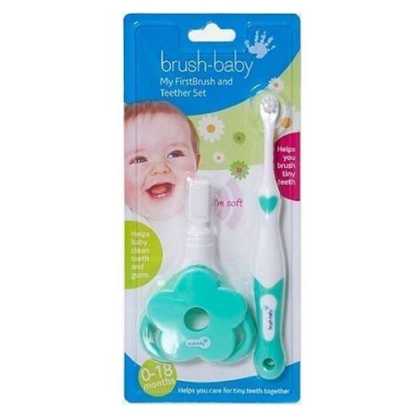 Brush-baby Четка за първите зъбки и чесалка масажор за деца от 0 до 18 месеца