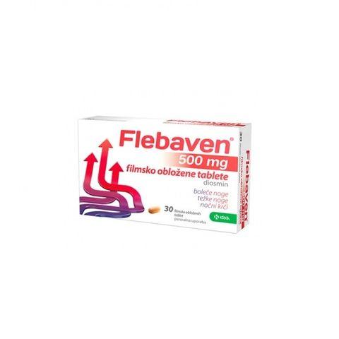 Krka Флебавен при болка и тежест в краката 500 мг х30 таблетки