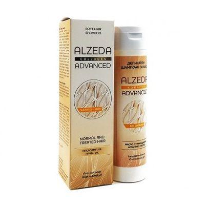 Alzeda Advanced Деликатен безсулфатен шампоан за чувствителен скалп с колаген, арган  и макадамия х 250 мл