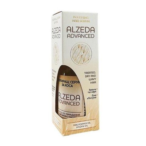 Alzeda Advanced Полиращ серум за суха, чуплива и третирана коса с масло от макадамия и арган х60 мл
