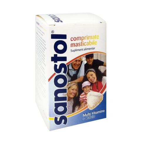 Саностол Мултивитамини и калций х75 таблетки за смучене