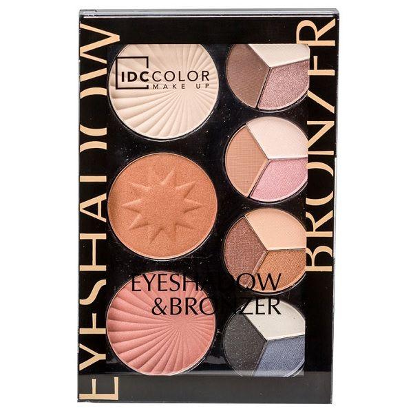 IDC Institute Eyeshadow & Bronzer Палитра със сенки за очи и бронзант х1 брой