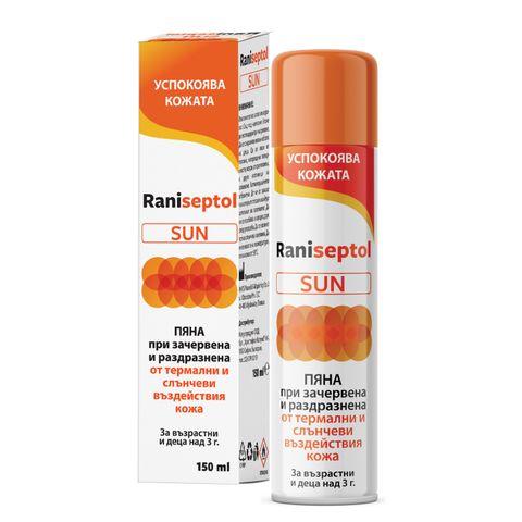 Raniseptol Sun с пантенол Пяна при зачервена и раздразнена кожа х150 мл Naturprodukt