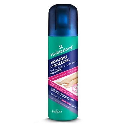 Farmona Nivelazione Део спрей за крака 4 в 1 против гъбички и потене с аромат х180 мл