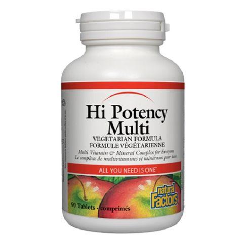 Natural Factors Hi Potency Multi Мултивитамини и минерали за повишаване на имунитета х90 таблетки