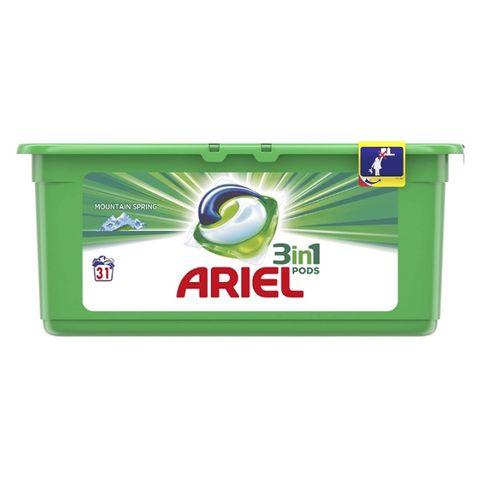 Ariel 3in1 Pods Mountain Spring Гел капсули за пране 31 броя х27 грама