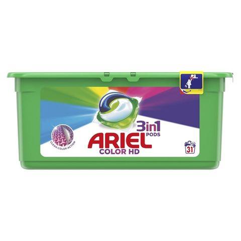Ariel 3in1 Pods Color HD Гел капсули за пране 31 броя х27 грама