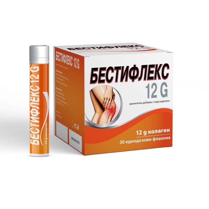 Бестифлекс 12G Течен колаген за здравето на ставите х30 еднодозови флакона Naturprodukt