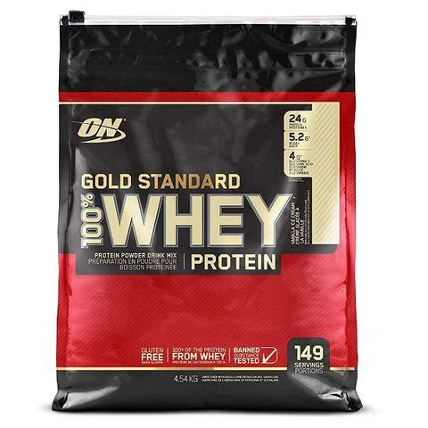 Optimum Nutrition Gold Standard 100% Суроватъчен протеин Ванилов сладолед х4540 грама