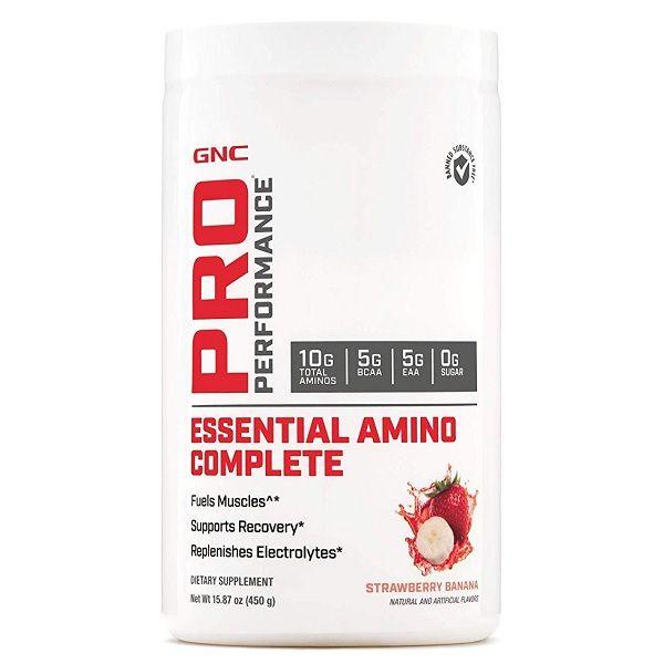 GNC Pro Performance Essential Amino Complete Есенциални аминокиселини с вкус на ягода и банан х450 грама