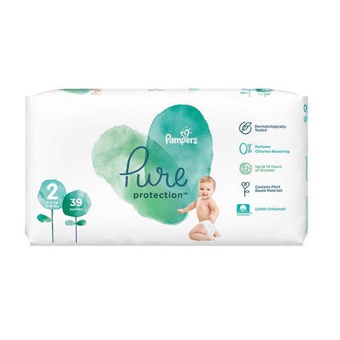 Pampers Pure Ptotection 2 Mini Пелени за деца от 4 до 8 килограма x39 броя