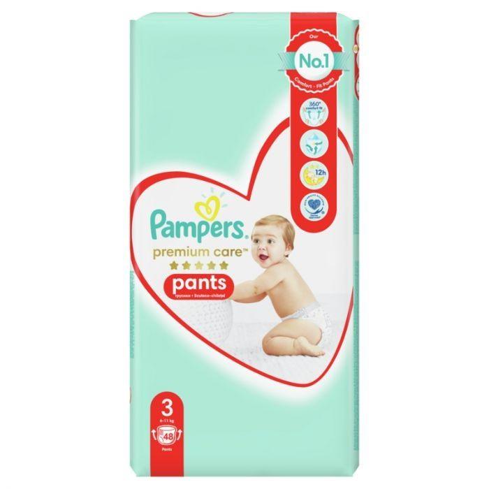 Pаmpers Premium Care Pants 3 Пелени - гащички за деца от 6 до 11 килограма x48 броя