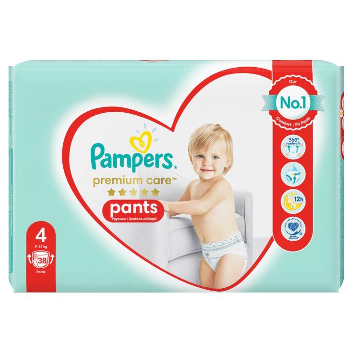 Pаmpers Premium Care 4 Пелени - гащички за деца от 9 до 15 килограма x38 броя