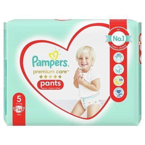 Pаmpers Premium Care Pants 5 Пелени - гащички за деца от 12 до 17 килограма x34 броя