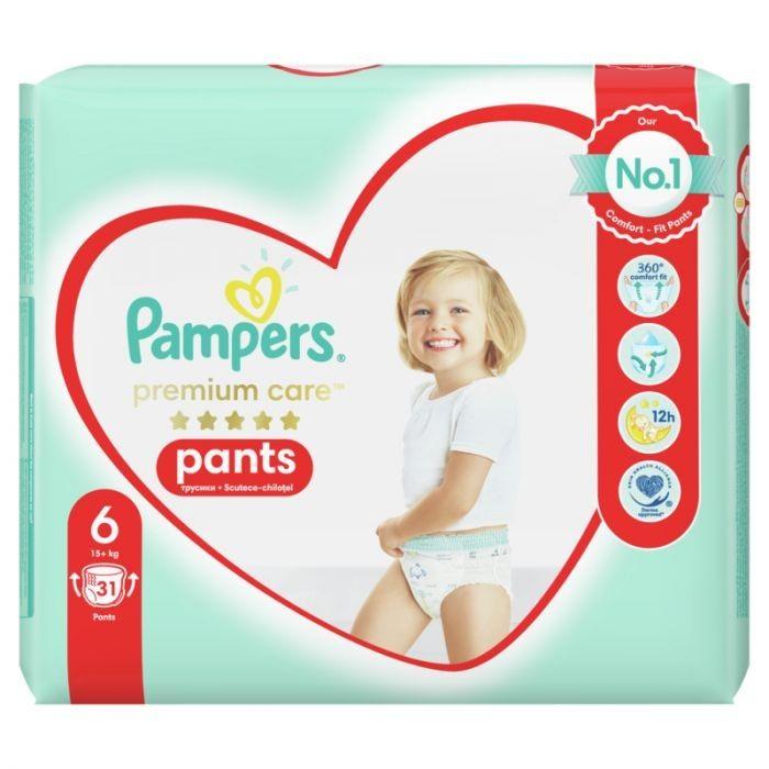 Pаmpers Premium Care 6 Пелени - гащички за деца над 15 килограма x31 броя