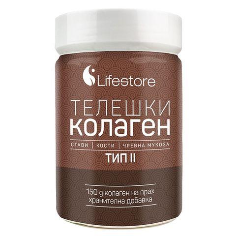 Lifestore Телешки колаген тип 2 на прах за здрави стави и кости х150 грама
