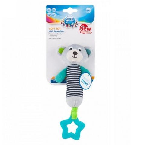 Canpol babies мека играчка със свирка, цвят сив - 68/055