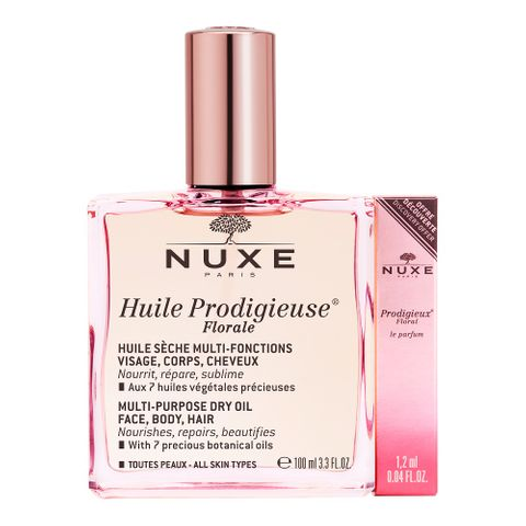 Nuxe Huile Prodigieuse Florale Мултифункционално сухо масло за лице, тяло и коса с флорално ухание х100 мл