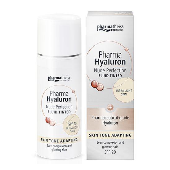 Pharma Hyaluron Тониращ анти-ейдж флуид за лице с матиращ ефект SPF20, цвят Ultra Light х50 мл