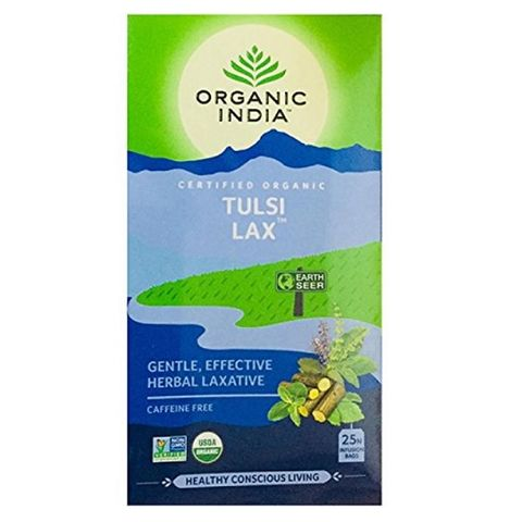 Organic India Уелнес чай Тулси Лаксатив х25 филтърни торбички