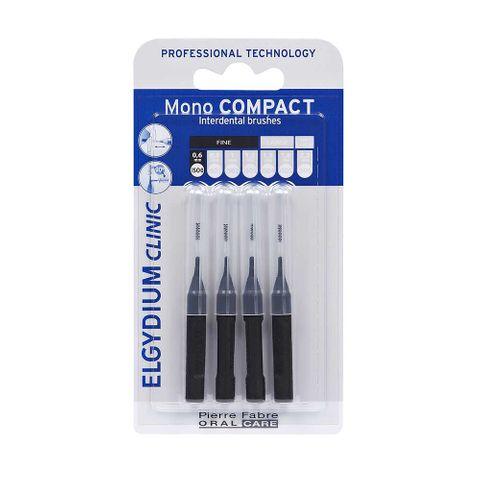 Elgydium Clinic Mono Compact Интердентални четки за зъби, размер 0,6 mm х4 броя
