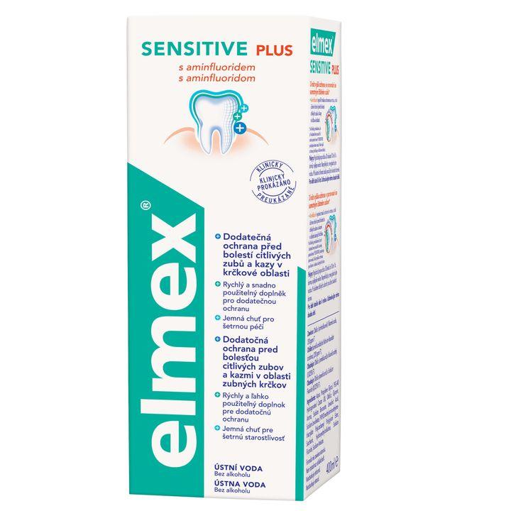 Elmex Sensitive Вода за уста с аминофлуорид за чувствителни зъби против кариеси х400 мл