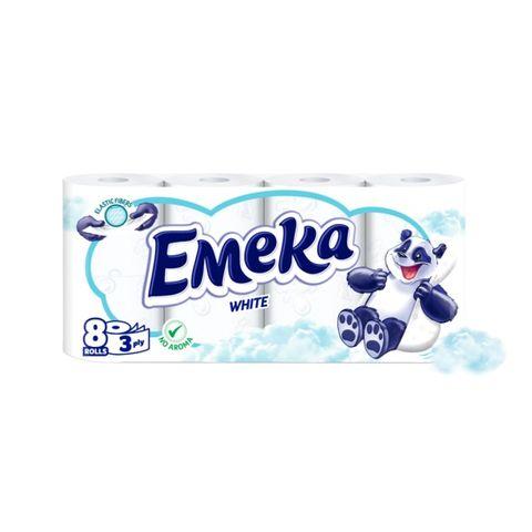 Emeka White Трипластова тоалетна хартия без аромат х8 броя