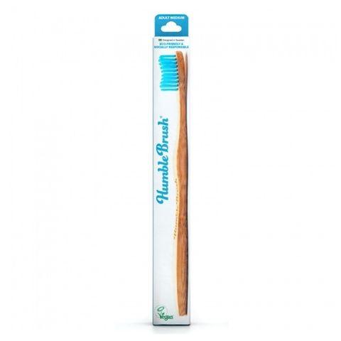 Humble Brush Бамбукова четка за зъби за възрастни, цвят Синя, размер Medium х1 брой