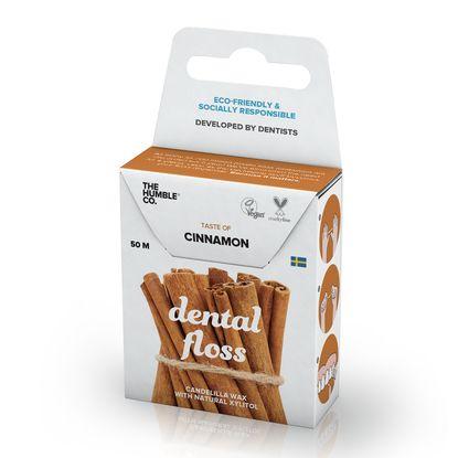 The Humble Co. Cinnamon Конец за зъби с естествено восъчно покритие и вкус на канела, 50 метра х1 брой
