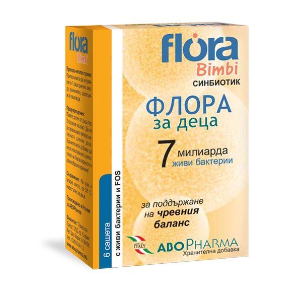 Flora Bimbi 7 Синбиотик за деца за поддържане на чревната флора х6 сашета Abopharma