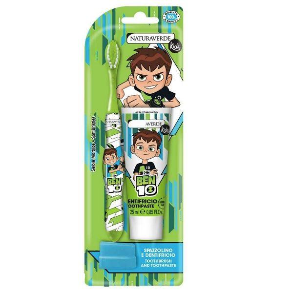 Naturaverde Kids Ben 10 Промо комплект четка и паста за зъби