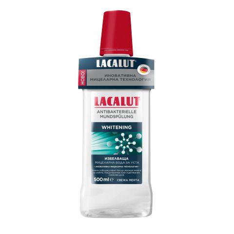 Lacalut Мицеларна вода за уста с избелващо действие х500 мл