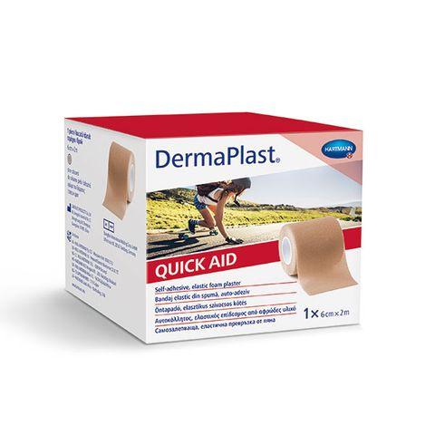 Hartmann DermaPlast Quick Aid Самозалепваща превръзка за малки рани 6см/2м х1 ролка