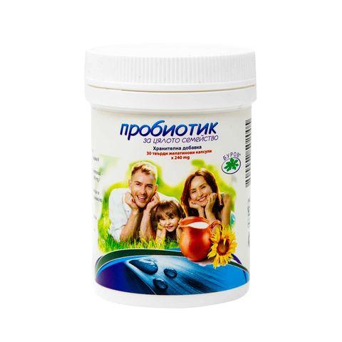 Bouroff Пробиотик за цялото семейство 240 мг х30 капсули