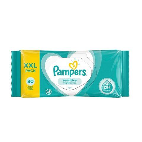 Pampers Sensitive Бебешки мокри кърпи за чувствителна кожа х80 броя