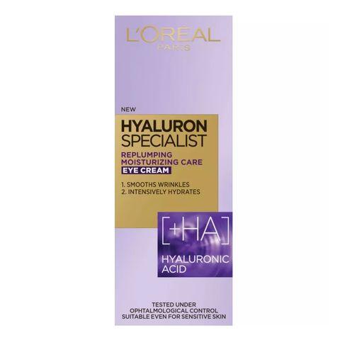 Loreal Hyaluron Specialist Изпълващ и подхранващ околоочен крем с хиалуронова киселина х15 мл
