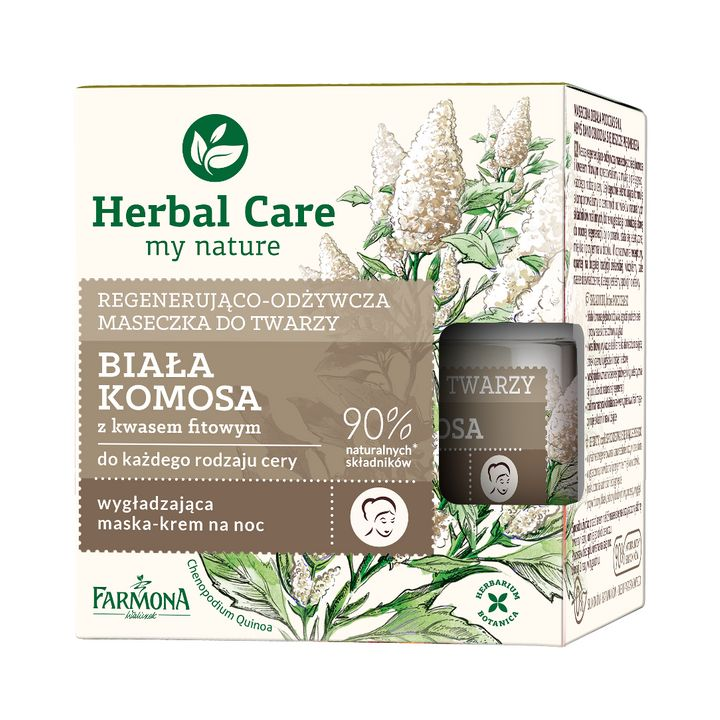 Farmona Herbal Care Нощна подхранваща крем-маска за лице с бяла киноа х50 мл