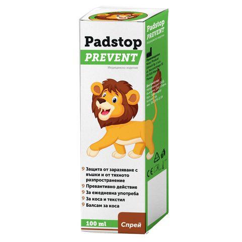 Padstop Prevent Спрей за защита от заразяване с главови въшки и от тяхното разпространение x100 мл Naturprodukt