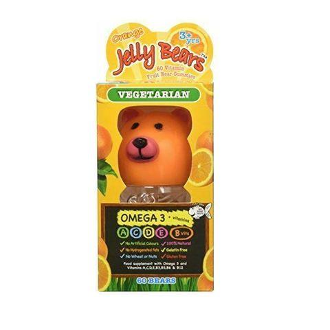 Jelly Bears Vegetarian Омега 3 и витамини A, B, C, D и E с вкус на портокал х60 желирани мечета