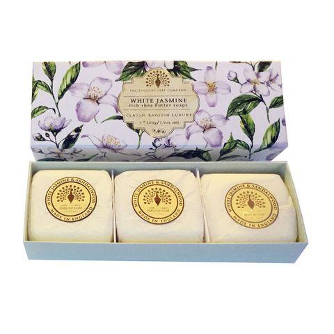 English Soap White Jasmine Луксозен сапун за ръце с аромат на бял жасмин 3х100 грама
