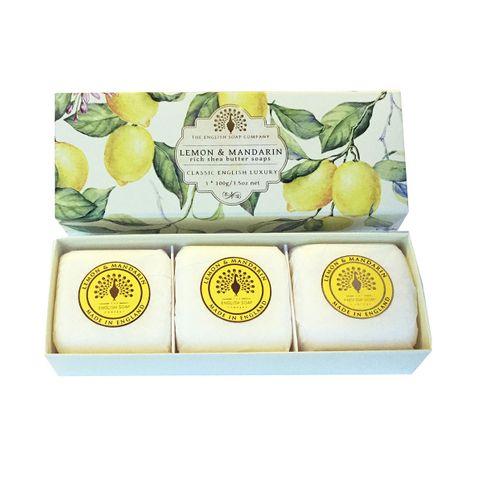 English Soap Lemon & Mandarin Луксозен сапун за ръце с аромат на лимон и мандарина 3х100 грама