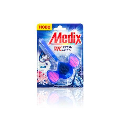 Medix WC Fresh Drops Blue Water Тоалетно блокче x33 грама