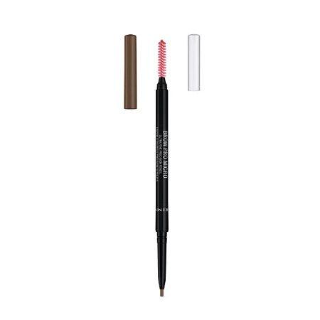 Rimmel Brow Pro Microdefiner Молив за вежди с четка за разресване, цвят 002 Soft Brown