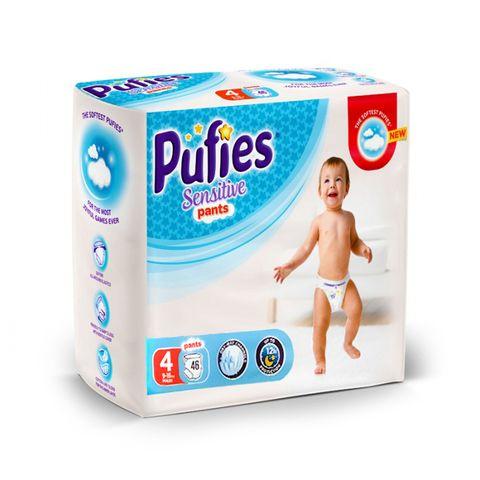 Pufies Sensitive Pants 4 Maxi Бебешки пелени тип гащички за деца от 9 до 15 килограма x46 броя