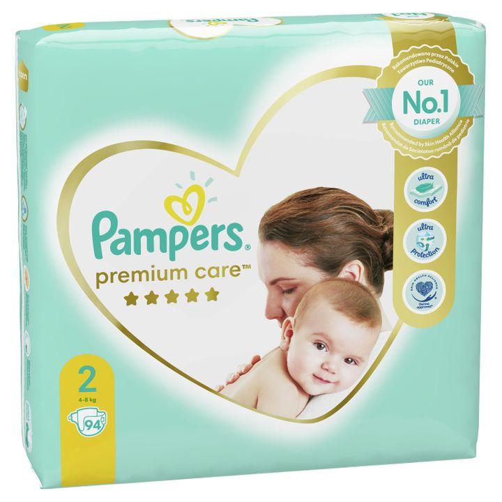 Pampers Premium Care 2 Пелени за деца от 4 до 8 килограма x94 броя