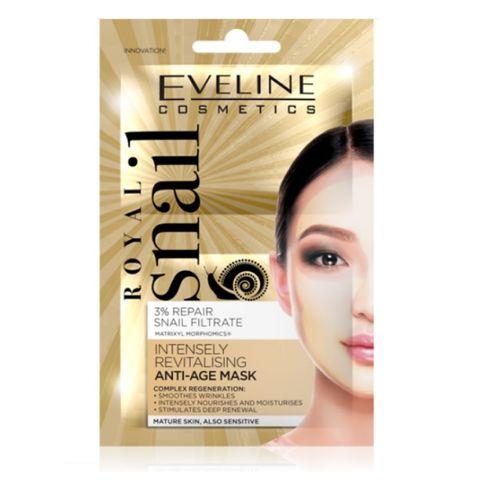 Eveline Royal Snail Подмладяваща маска за лице с екстракт от охлюви 2х5 мл