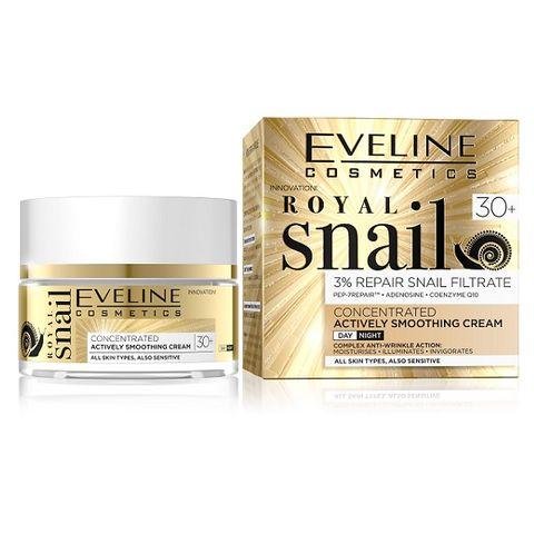 Eveline Royal Snail Подмладяващ дневен и нощен крем за лице с екстракт от охлюви 30+ х50 мл